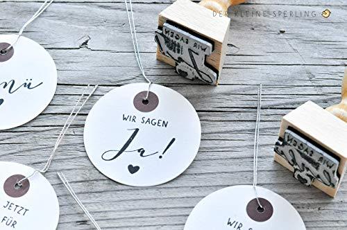 Stempel HOCHZEIT, Wir sagen ja!, Hochzeitsstempel, Stempel Hochzeitseinladung, Stempel Hochzeitspost, Stempel mit Herz