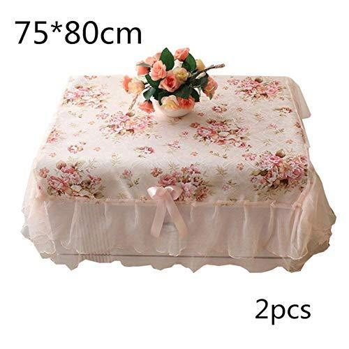 EDCV Home tafelkleed 1 st Rond/RechthoekWit Kant Tafelkleed Eettafel Cover Doek Home Hotel Textiel Voor Bruiloft Evenement Hotel Decora, 2 stuks 75x80cm