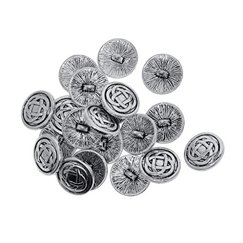 joyMerit 20x Lots Assorted 1-Hole Maze Buttons Sewing Buttons Clothing Fastenings DIY - 17mm Celtic Knot
