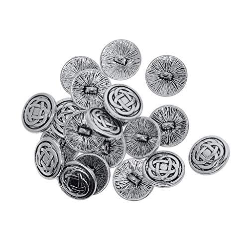 LoveinDIY 20 Pieces Vintage Metal Shank Button Exquisite Craft Viking Buttons for Blazer, Suits, Sport Coat, Uniform, Jacket - 17mm Celtic Knot