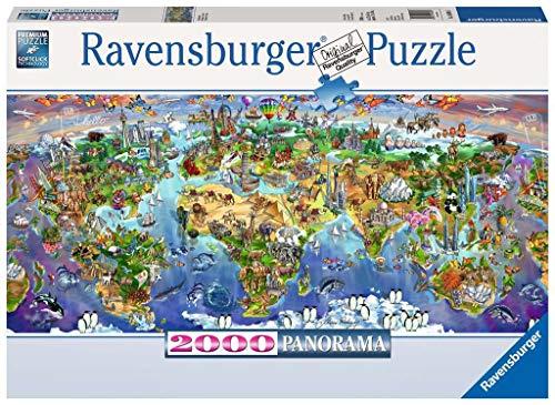 Ravensburger Puzzle 2000 Pezzi, Le Meraviglie del Mondo, Collezione Fantasy, Jigsaw Puzzle per Adulti, Puzzles Ravensburger - Stampa di Alta Qualità, Formato Panorama Orizzontale