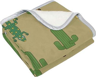 ad99b31b7c1 Lambbd Lewissq Tree Fork Cactus Gecko Blanket All Season Warm Lightweight  Thermal Fleece Blankets for 50x60