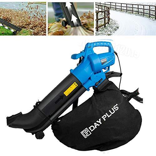 Xinng - Aspiradora para jardín (3500 W, potencia de motor, velocidad variable con bolsa de colección de 35 L, 10 m, cable de hoja trituradora para jardín, relación 10:1