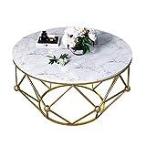 YNN Table Table d'appoint Ronde Petit Appartement Table Basse en marbre Salon Table d'appoint Table à thé Chambre à...