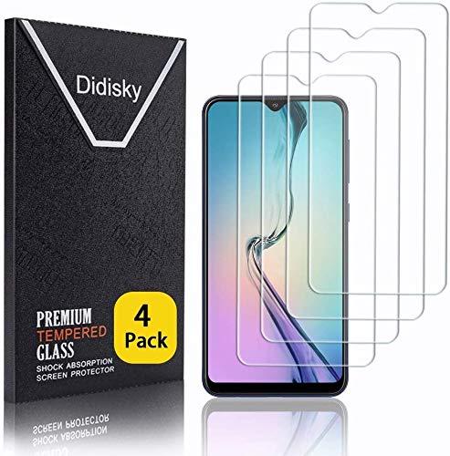 Didisky Panzerglas Hartglas Displayschutzfolie für Samsung Galaxy A10, [4er Pack ] Kratzfest, 9H Härte, Keine Blasen, High Definition, Einfach anzuwenden, Fall-freundlich
