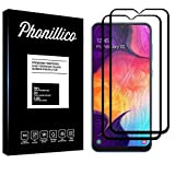 PHONILLICO [Pack de 2] Verre Trempe Bord Noir pour Samsung Galaxy A50 - Film Protection 100%...
