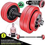 Sportstech 2 en 1 altere avec Couvercle en Silicone, altere Musculation Courte/Longue, Musculation...
