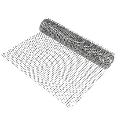 Pro-Tec Drahtgitter grau 4 Eck 1m x 25m verzinkt Schweißgitter Volierendraht