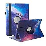 Funda para Huawei MediaPad T3 10 (9,6 pulgadas) – 360 grados de rotación Funda Cover (Galaxy)