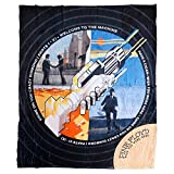 Cabin Fever Pink Floyd Fleece Throw Blanket Wish You were Here Record Art 50x60 Inches