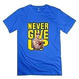 Golden dosa Men's WWE Never Give Up John Cena T-Shirt Natural Natural