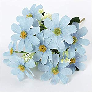 Artificial and Dried Flower Artificial Flower Small Daisy 5 Forks 10 Heads Cosmos Cherry Blossom Wedding Party Decoration Home Window Decor Fake Silk Flower