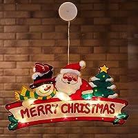 クリスマス LEDハンギングライト サンタクロース サクションカップ 窓飾りライト スノーマン 雰囲気ライト クリスマスツリー ペンダントライト 家 ホテル お店 クリスマス お祝日 飾り物 プレゼント