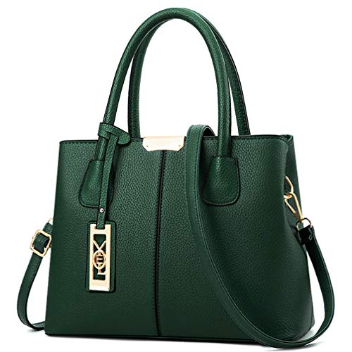 UTILITY: Shoulder Purse, Handbag , Tote, Crossbody bag ,Messenger Bags MATERIAL: High Quality PU Leather DIMENSIONS: 12.2L * 8.3H * 5.2W inches (31cm*21cm*13cm), Height of Handle: 5.9 inch (15cm) POCKETS: 1 Exterior Back Zipper Pocket,2 Interior Zipp...