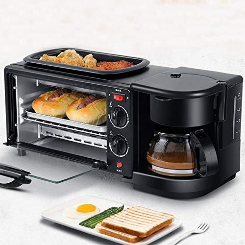 3in1 Electric Ontbijt Machine, 9L multifunctionele Koffiezetapparaat Pan Mini Oven Household Brood Pizza Oven Pan