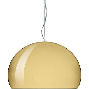 Kartell Small Fl/Y Lampada da Soffitto E27, 15 W, Oro, 232 x 38 x 28 cm