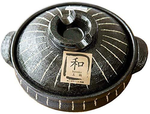 zyl Cacerola de arcilla para el hogar de arcilla para cocinar olla de arcilla antigua, color negro, 2,3 l