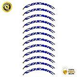 Pegatinas Llanta para Bicicleta de Carretera 35mm Modelo Mavic Cosmic Elite Stickers Bike (Azul)