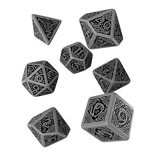 Celtic 3D Dice Gray/Black (7) Board Game