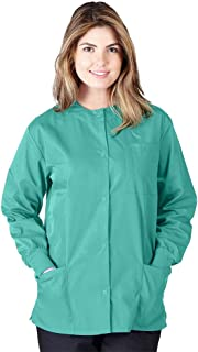 Natural Uniforms Women's Warm Up Jacket Medical Scrub Jacket (XS to 5XL) (Medium, Surgical Green)