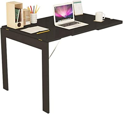 FJFXCJ Home Foldable Dining Table Wall Mounted Drop-Leaf Table Multi-Function Convertible Workstation Laptop Stand Desk Storage X8C1J6