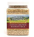 Brown Basmati Rice - 24 Ounce / 680 Grams Jar (15+ Servings) - Proudly Made in America - Healthy Nourishing Essentials by Green Heights