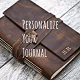 Personalized Leather Journal Notebook or Sketchbook | Rustic Brown, Saddle Tan, Dark Brown