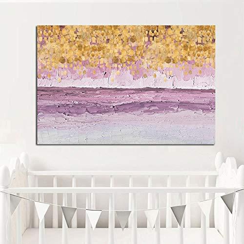 sanzangtang Rahmenlose Malerei Abstrakte nordische Roségoldplakat- und Leinwanddrucke moderner Kindergarten für WohnzimmerdekorationCGQ6044 30X45cm