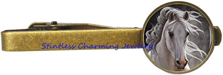 Horse Tie Clip Horse Jewelry Tie Clip Wearable Art Tie Pin Charm Horse Lover Horse Tie Clip Horse Gift-JV360