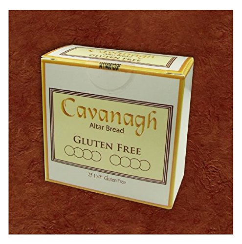 Gluten Free 1 3/8' Diameter (35mm) Altar Communion Bread 25 Count Boxed Individually Wrapped