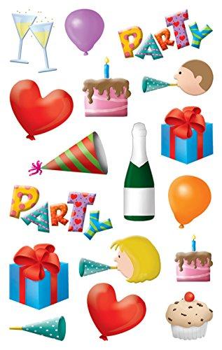 AVERY Zweckform 56097 Deko Sticker Emoticon Party 34 Aufkleber