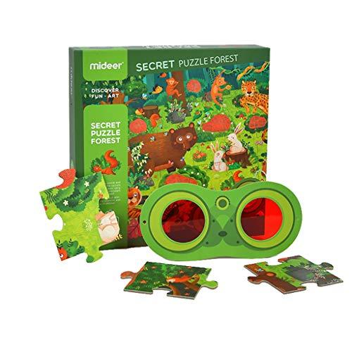 Puzzles Spielzeug Wald Ozean Kinder Creative Development Baby-Kleinkind-Intelligence-Spielzeug entwickeln Brainteaser (Color : Forest)