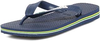 Havaianas Brasil Logo, Tongs Mixte Adulte, Bleu Marine, 33/34 EU