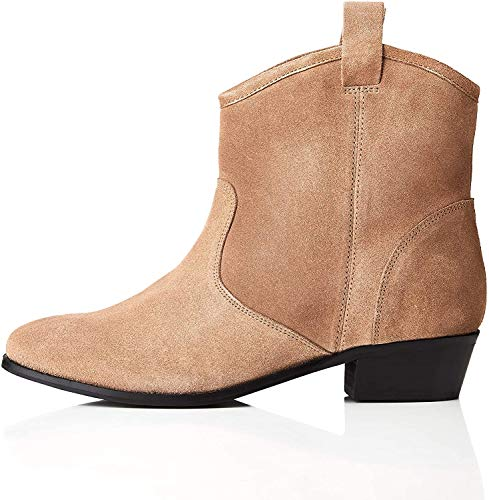 find. Pull On Leather Casual Western Botas Chelsea, Marrón Sand, 36 EU