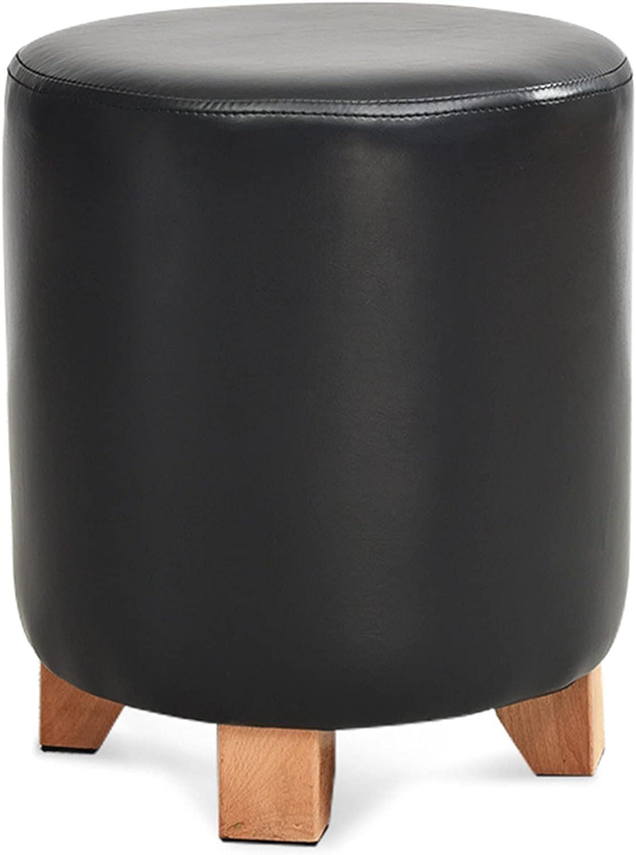 Footstool Modern Minimalist Pouffe Superior Leathe Stool Ottoman In stock Round