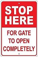 ゲートのためにここで停止してください