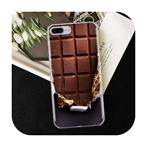 Who-Care Funny Food Dessert Chocolate Beer Phone Case For Iphone 11 Pro Xr 6 6S 7 8 Plus 4S 5S Se Xs Max Cookies Fries Tpu Silicone Case-Tpu D811-For Iphone 7 Or 8