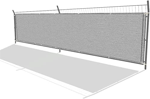 new arrival labworkauto Fence Privacy Screen Wind Screen Mesh Fence Cover wholesale Fabric Heavy Duty with Grommets Fit for Privacy Block Fence Cover online Backyard Garden Outdoors (4' x 50',Gray) outlet sale