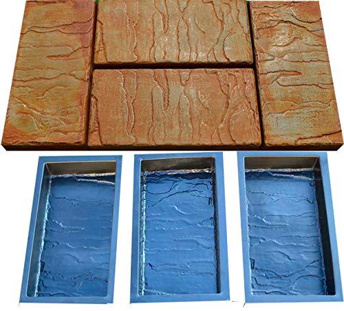 Betonex Sold Set 6 Piece Design Concrete MOLDS for Paving Brick Slab Patio Garden Path Mould S23