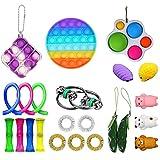 Fidget Toys Set, 23 Piezas Fidget Pack Barato con Pop Pop Bubble Simple Dimple Infinite Cube, el estrés Alivia el Juguete sensorial para niños Adultos