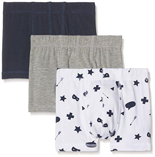 NAME IT Jungen NKMTIGHTS 3P Mel NOOS Boxershorts, Mehrfarbig (Grey Melange), 152 (Herstellergröße: 146-152) (3er Pack)