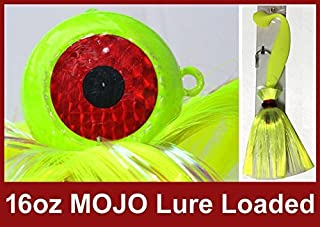 Blue Water Candy Rock Fish Candy 16 oz Cannonball Mojo Lure Loaded with 9-Inch Swimbait Shad Body