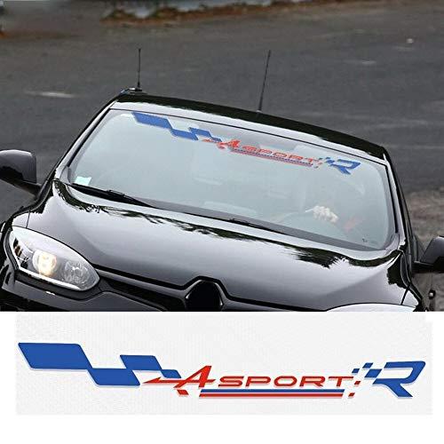CHENTAOMAYAN 1 Pieza frente del logotipo Ventana Windsheild bandera de vinilo pegatinas Decal para Renault Clio Megane R.S Twingo Captur de la visera parasol etiquetas