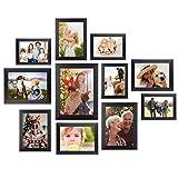 Homemaxs 12Stk Bilderrahmen Collage Fotorahmen Galerie Wand Bilderrahmen Set für Wand, Familie, Raumdekoration, Tischdisplay, 【2020 NEUESTE】Einer 20x25, Vier 13x18, Fünf 10x15, Zwei 15x20 cm, Schwarz