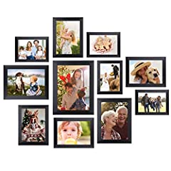❤️✔【MULTIPLE-SIZES DISPLAY】Multiple 12pcs picture frames set include One 8x10 in, Four 5x7 in, Five 4x6 in, Two 6x8 in Picture Frames. Display your the most cherished moments as your photos are hanging on our picture frames. ❤️✔ 【QUALITY-MADE MATERIA...