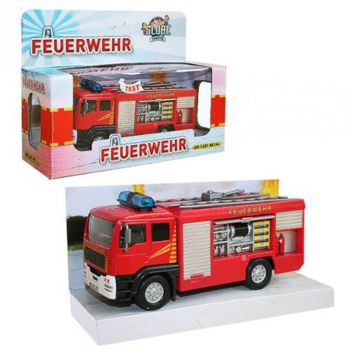 Kids Globe Auto Fahrzeug Löschgruppe | Feuerwehr | mit Licht Sound & Rückzug