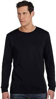 Bella + Canvas Unisex Jersey Long-Sleeve T-Shirt - BLACK - M - (Style # 3501 - Original Label)