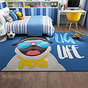 HMBBDT Children's Carpet, Girl Bedroom Rugs, Cute Dog Animal Pattern Bedroom Floor Rugs, Kids Living Room Carpet, Indoor Bedroom Rugs in Nursery, Dining Room, Office, Dormitory,A,200CM300CM