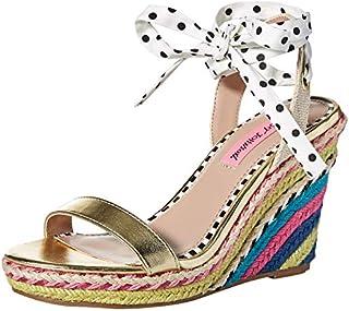 Betsey Johnson Women's Colvin Wedge Sandal