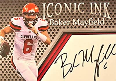 2018 Iconic Ink Autograph Football Rookie Card - BAKER MAYFIELD - Cleveland Browns Custom Facsimile Autograph Card!